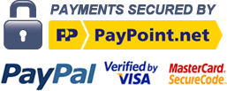 Payments Secured by PayPoint.Net and PayPal. Verified by Visa and Mastercard SecureCode