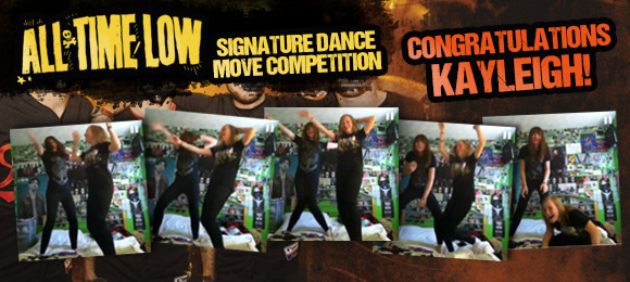 All Time Low, Signature Dance Move Competition Winner - Kayleigh