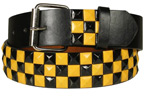 Black & Yellow Pyramid Studded Belt