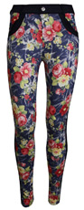 Floral Panel Monterey Jeggings