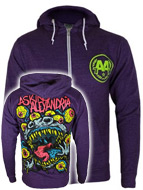 Asking Alexandria Eyeballs Men's Purple Zipped Hoodie
