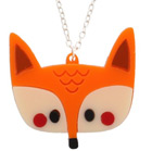 Little Moose Doodllery Fox Necklace