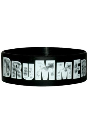 Drummer Rubber Wristband Buy Online At Grindstore Com