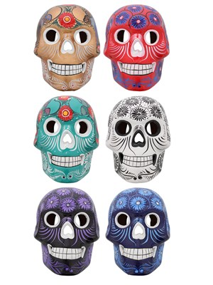 Day Of The Dead Ceramic Wall Skull Assorted Styles