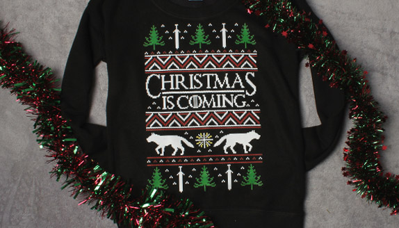 Christmas Is Coming Men's Christmas Jumper