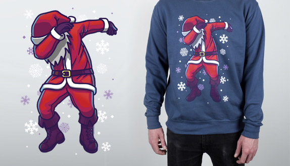 Santa Dab Men's Christmas Jumper