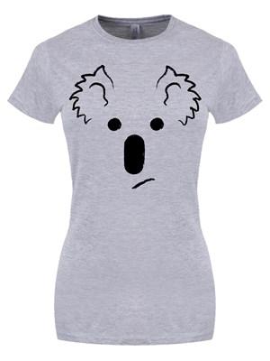 Koala Bear Face Ladies Grey T Shirt Buy Online At