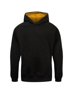 Kid S Unisex Black Amp Gold Varsity Hoodie Buy Online At