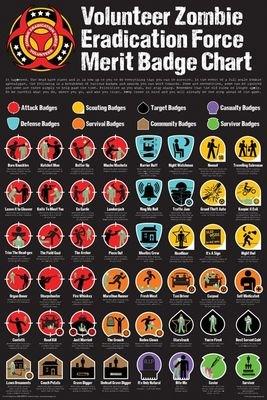 Volunteer Zombie Eradication Force Poster Merit Badge