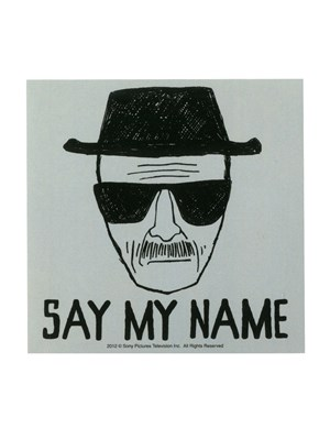 say my name breaking bad sticker buy online at. Black Bedroom Furniture Sets. Home Design Ideas