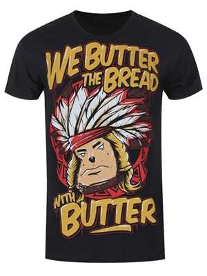 We Butter The Bread With Butter Indian Men S Black T Shirt