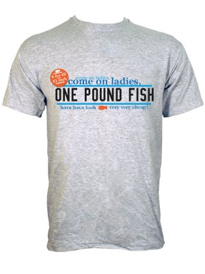 One pound fish very cheap men 39 s grey t shirt buy online for Very cheap t shirts