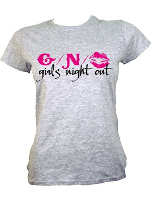 Girls Night Out Ladies Grey T-Shirt - Buy Online at Grindstore.com af49d35b4