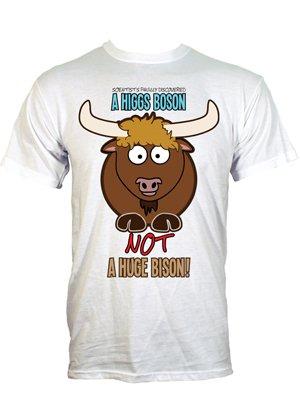 0e3ec650e A Higgs Boson Not A Huge Bison Men's White T-Shirt - Buy Online at ...