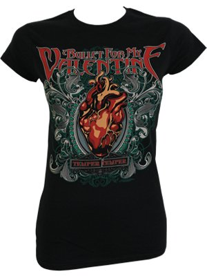 Schön Bullet For My Valentine Temper Temper Ladies Black T Shirt