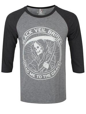 Black Veil Brides Reaper Men S Grey 3 4 Sleeve Baseball T
