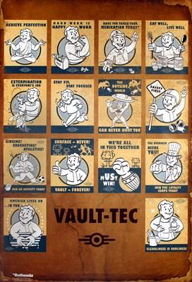 Fallout 4 Vault Tec Compilation Maxi Poster - Buy Online