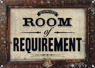 Harry Potter Room Of Requirement Tin Sign Buy Online At