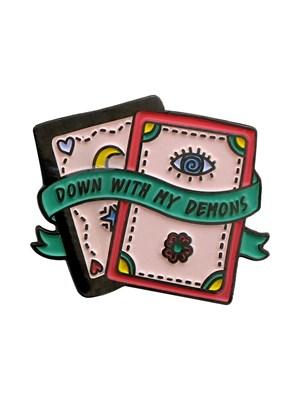 Punky Pins Tarot Card Demons Enamel Pin Badge